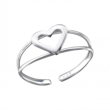 Heart - 925 Sterling Silver Toe Rings SD510