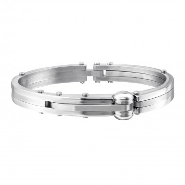 Cuff - 316L Surgical Grade Stainless Steel Men Steel Bracelet SD1077