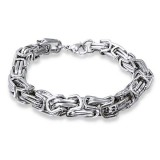 Carving - 316L Surgical Grade Stainless Steel Men Steel Bracelet SD10895