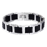 Handcuff - Rubber Men Steel Bracelet SD15206