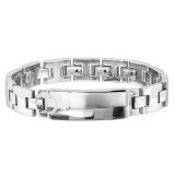 Plain - 316L Surgical Grade Stainless Steel Men Steel Bracelet SD24086
