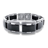 Chained links - 316L Surgical Grade Stainless Steel Men Steel Bracelet SD7702