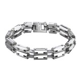 Dangerous - 316L Surgical Grade Stainless Steel Men Steel Bracelet SD8077