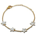 Star - 316L Surgical Grade Stainless Steel Women Steel Bracelet SD14941