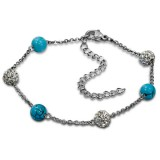 Beaded - 316L Surgical Grade Stainless Steel Women Steel Bracelet SD15014