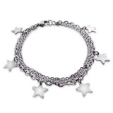 Star - 316L Surgical Grade Stainless Steel Women Steel Bracelet SD19600