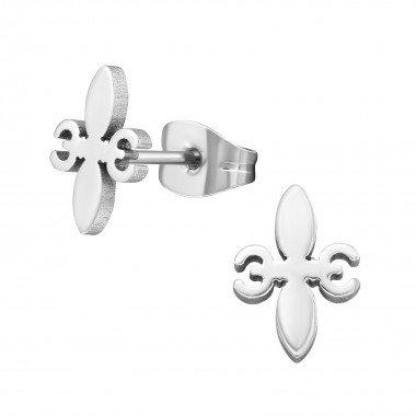 Fleur-de-lis - 316L Surgical Grade Stainless Steel Stainless Steel Ear studs SD1258
