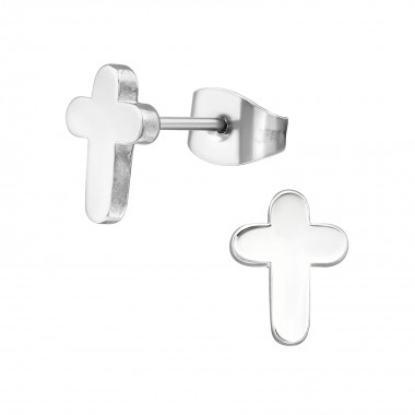 Cross - 316L Surgical Grade Stainless Steel Stainless Steel Ear studs SD1272