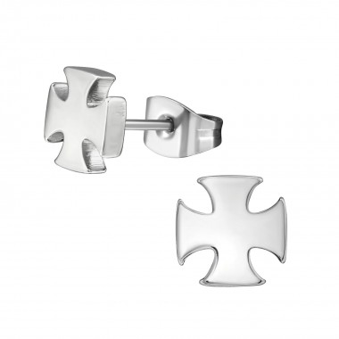 Cross - 316L Surgical Grade Stainless Steel Stainless Steel Ear studs SD1809