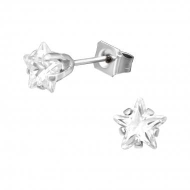 Star 6mm - 316L Surgical Grade Stainless Steel Stainless Steel Ear studs SD41044