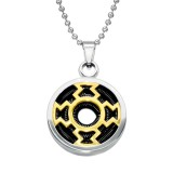 Round - 316L Surgical Grade Stainless Steel Stainless Steel Necklace SD28436
