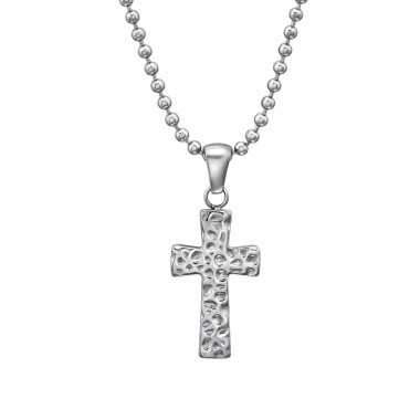 Cross - 316L Surgical Grade Stainless Steel Stainless Steel Necklace SD31623
