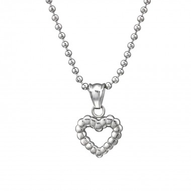 Heart - 316L Surgical Grade Stainless Steel Stainless Steel Necklace SD31625