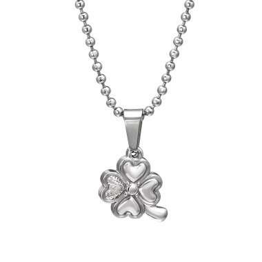 Lucky Clover - 316L Surgical Grade Stainless Steel Stainless Steel Necklace SD31824
