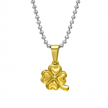Lucky Clover - 316L Surgical Grade Stainless Steel Stainless Steel Necklace SD31825