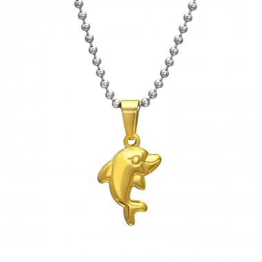 Dolphin - 316L Surgical Grade Stainless Steel Stainless Steel Necklace SD31828