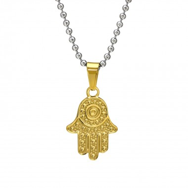Hamsa - 316L Surgical Grade Stainless Steel Stainless Steel Necklace SD31834