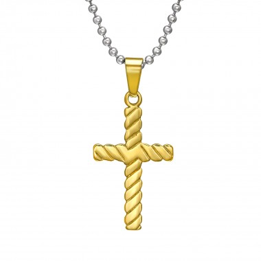 Cross - 316L Surgical Grade Stainless Steel Stainless Steel Necklace SD31838
