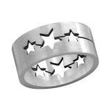 Star - 316L Surgical Grade Stainless Steel Steel Rings SD1218