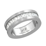 Jeweled - 316L Surgical Grade Stainless Steel Steel Rings SD16671