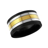 Stripe - 316L Surgical Grade Stainless Steel Steel Rings SD17017