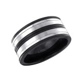 Stripe - 316L Surgical Grade Stainless Steel Steel Rings SD17018