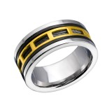 Patterned - 316L Surgical Grade Stainless Steel Steel Rings SD22800
