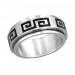 Greek - 316L Surgical Grade Stainless Steel Steel Rings SD255