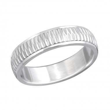 Ribbed - 316L Surgical Grade Stainless Steel Steel Rings SD261