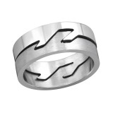 Zigzag - 316L Surgical Grade Stainless Steel Steel Rings SD262