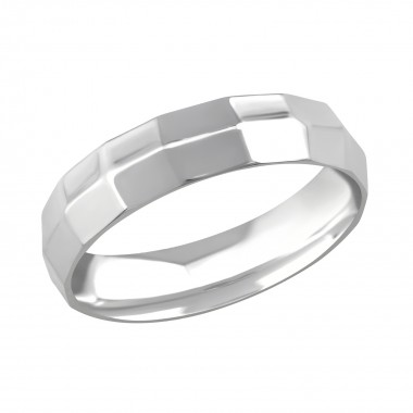 Ribbed - 316L Surgical Grade Stainless Steel Steel Rings SD266