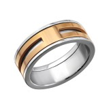 Stripe - 316L Surgical Grade Stainless Steel Steel Rings SD27990