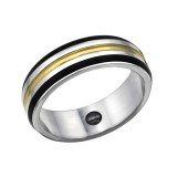 Line - 316L Surgical Grade Stainless Steel Steel Rings SD31848
