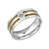 Band - 316L Surgical Grade Stainless Steel Steel Rings SD31849