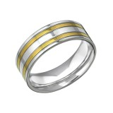 Band - 316L Surgical Grade Stainless Steel Steel Rings SD31851