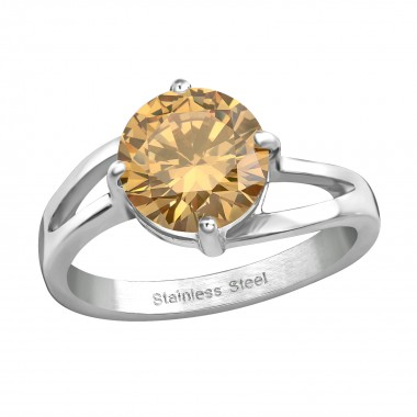 Solitaire Ring - 316L Surgi...