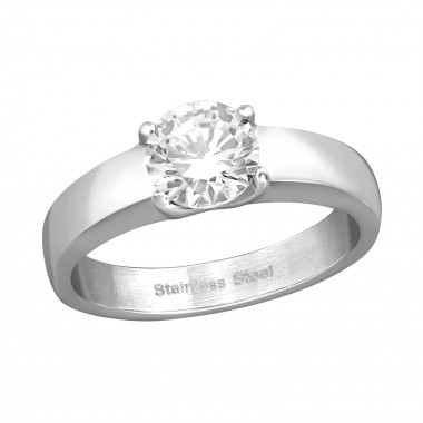 Solitaire - 316L Surgical Grade Stainless Steel Steel Rings SD37724
