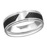 Two Tone - 316L Surgical Grade Stainless Steel Steel Rings SD37730