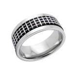 Checkered - 316L Surgical Grade Stainless Steel Steel Rings SD5098