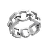 Chained - 316L Surgical Grade Stainless Steel Steel Rings SD6611