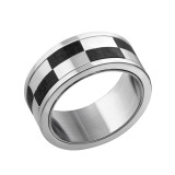 Checkered - 316L Surgical Grade Stainless Steel Steel Rings SD7107