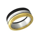 Triple - 316L Surgical Grade Stainless Steel Steel Rings SD7759