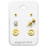 Spiral - 316L Surgical Grade Stainless Steel Steel Jewelry Sets SD28516