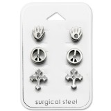 Peace - 316L Surgical Grade Stainless Steel Steel Jewelry Sets SD28534