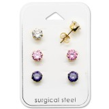 Round - 316L Surgical Grade Stainless Steel Steel Jewelry Sets SD29042