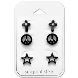 Mixed - 316L Surgical Grade Stainless Steel Steel Jewelry Sets SD29055