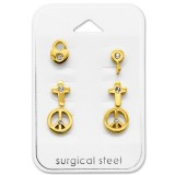 Mixed - 316L Surgical Grade Stainless Steel Steel Jewelry Sets SD29056