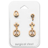 Mixed - 316L Surgical Grade Stainless Steel Steel Jewelry Sets SD29057