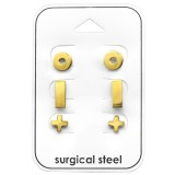 Basic - 316L Surgical Grade Stainless Steel Steel Jewelry Sets SD33374