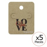 Love You Ear Stud Cards - Paper Steel Jewelry Sets SD34095